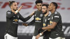 Манчестър Юнайтед се доближава до лидерите след нов обрат