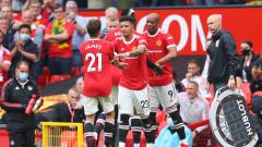 Манчестър Юнайтед се развихри на старта, Фернандеш блести с хеттрик