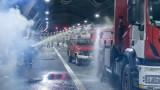 """Полиция, пожарна и спешна помощ проведоха учение за ПТП в тунел """"Ечемишка"""""""