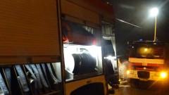 Голям пожар горя в пловдивското село Труд