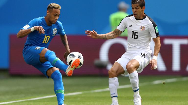Бразилия бе на косъм от втора издънка на Мондиал 2018,