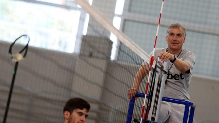 Селекционерът на волейболния национален отбор Силвано Пранди е доволен от