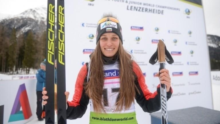 Милена Тодорова се представи силно на Световното първенство по биатлон