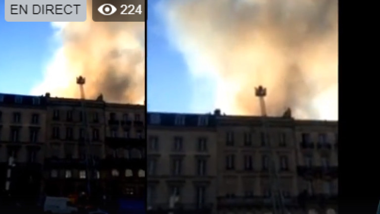 Голям пожар гори в центъра на Бордо