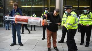 Над 60 задържани на протест срещу блокадите в Лондон