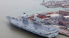 Новият 4-милиарден британски самолетоносач протече