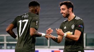 Няма кой да спре Фернандеш, Юнайтед почти сигурно е 1/8-финалист в Лига Европа