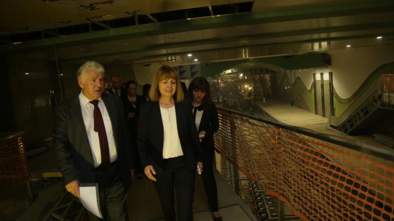 29% от третия лъч на метрото изпълнен, докладва Фандъкова