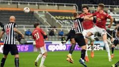 Манчестър Юнайтед победи Нюкасъл с три гола след 86-ата минута