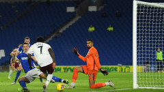 Александър Лаказет донесе победата на Арсенал срещу Брайтън 21 секунди, след като влезе