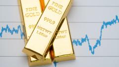 Цената на златото се вдигна до двумесечен връх