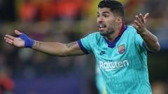 19-о гостуване на Барселона в Шампионска лига без гол за Луис Суарес