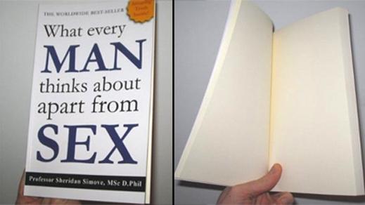 Книга с празни страници стана бестселър