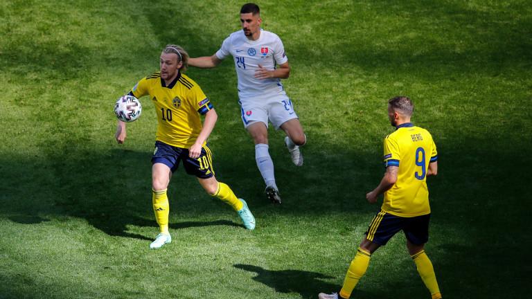 Швеция 0 : 0 Словакия 40′ Скуката на
