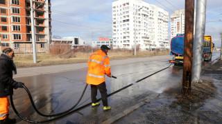 Миенето на булевардите в София може да затрудни движението