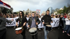 Хиляди студенти протестираха срещу Вучич и диктатурата