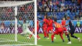 """Франция - Белгия 1:0, """"петлите"""" повеждат в резултата!"""