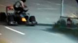 Страховита катастрофа прекрати тренировката за Гран при на Русия (ВИДЕО)