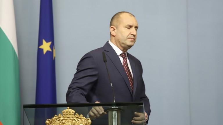 Президентът на България Румен Радевизказа своите съболезнования след кончината на