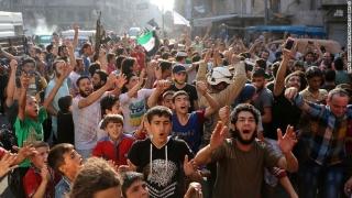 Опозицията разкъса обсадата на Алепо, хората  празнуват