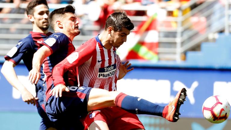Късен гол спаси Атлетико от издънка в Ейбар
