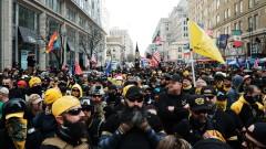 Насилие между поддръжници на Тръмп и контрапротестиращи във Вашингтон