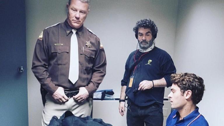 Джеймс Хетфийлд от Metallica в ролята на полицай