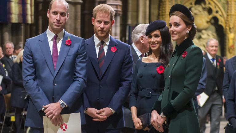 Уилям и Кейт зачеркнаха Хари и Меган