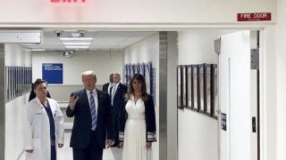 Тръмп посети болница
