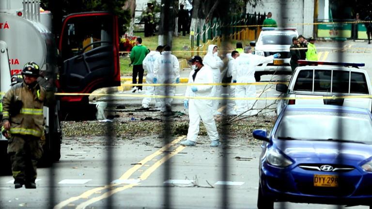 Снимка: 10 загинали и повече от 50 ранени при атентата в Колумбия