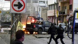 Нападенията с коли-бомби се пренесоха в Мексико
