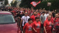 """""""Червено"""" море залива """"Васил Левски"""" за мача с Копенхаген"""