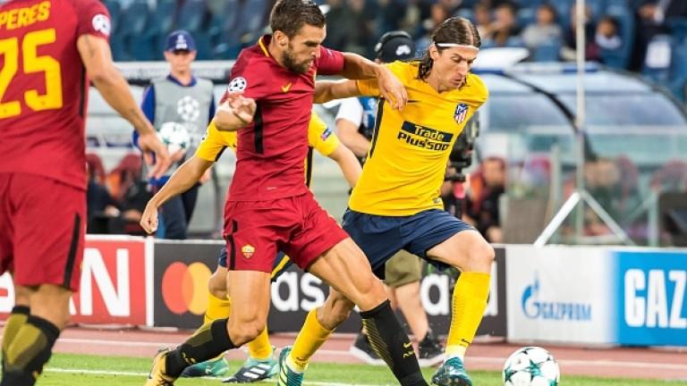 Атлетико изпусна Рома насред Рим (ВИДЕО+СНИМКИ)