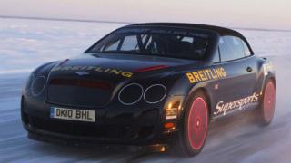 Световен рекорд - 331 км/ч с Bentley на лед (видео)