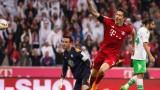 Байерн (Мюнхен) профука аванс от два чисти гола и се издъни срещу Волфсбург