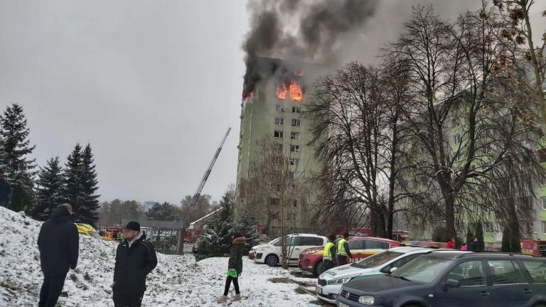 При газова експлозия в многоетажен жилищен блок в източния словашки