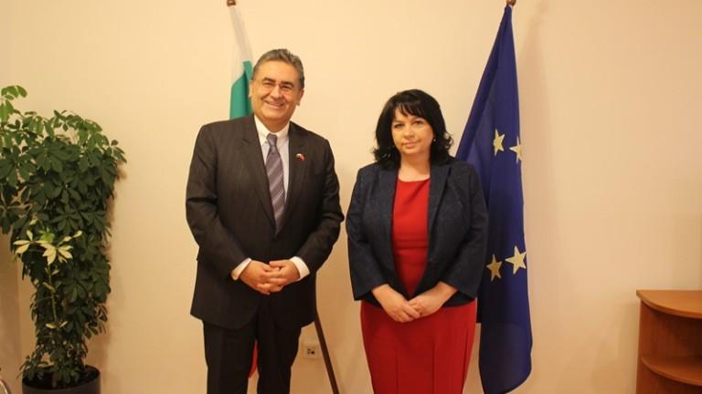 Петкова обсъжда износ на ток към Турция с посланика на страната у нас