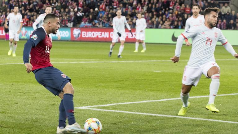 Испания и Норвегия завършиха наравно 1:1 в мач от група