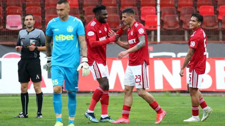 Хебър - ЦСКА: 0:3 (Развой на срещата по минути)