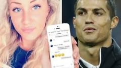 Блондинка показа чат с Роналдо  (СНИМКА)