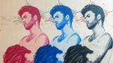 Графити артист почете паметта на Джордж Майкъл