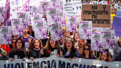 С 6-милионен протест Испания отбелязва 8 март