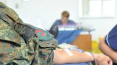 За девет месеца 2000 военни дариха кръв