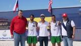 Красен Кралев и Любо Ганев посетиха първия международен FIVB турнир по плажен волейбол