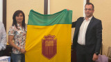 Стойка Кръстева развя знамето на Добрич