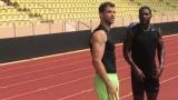 Григор Димитров тренира с Джъстин Гатлин в Монте Карло