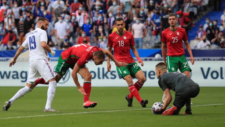 Въпреки вялото си представяне срещу Франция, футболист от националния ни