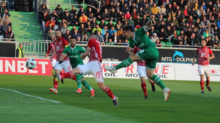 Лудогорец - ЦСКА 0:1 (Развой на срещата по минути)