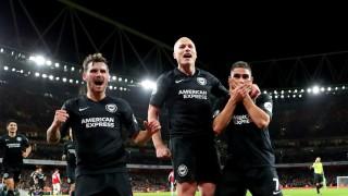 """Кошмарът за Арсенал няма край, """"топчиите"""" отстъпиха на Брайтън"""