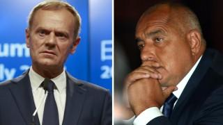 Борисов и Туск обсъдиха срещата на върха в София през май догодина